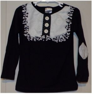 Persnickety Black and White Lou Lou Top